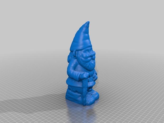 小矮人奶奶模型 3D打印模型渲染图