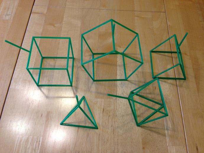 线性结构几何体 3D打印模型渲染图