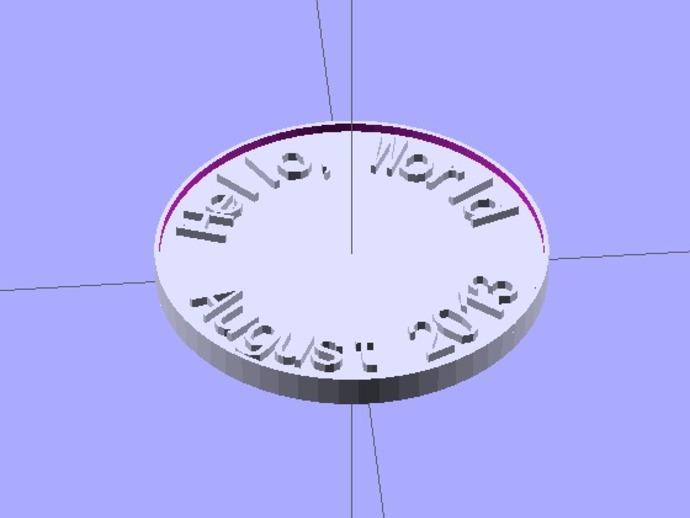 定制硬币 3D打印模型渲染图