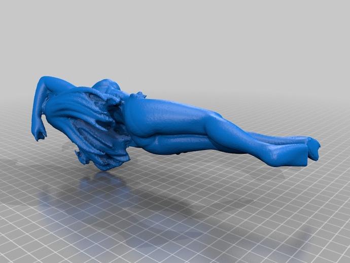 比基尼女孩 3D打印模型渲染图
