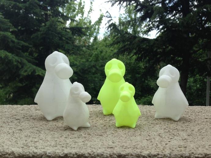 企鹅模型 3D打印模型渲染图