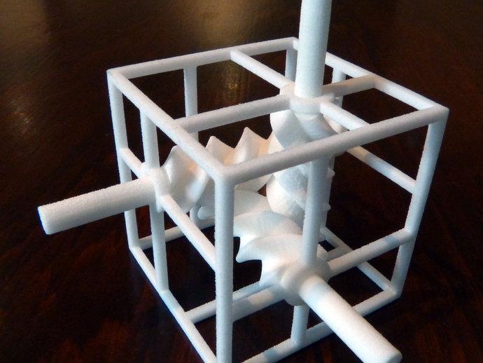 三螺旋模型 3D打印模型渲染图