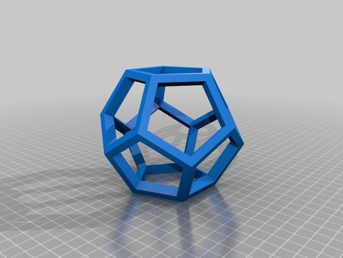 中空12面体 3D打印模型渲染图