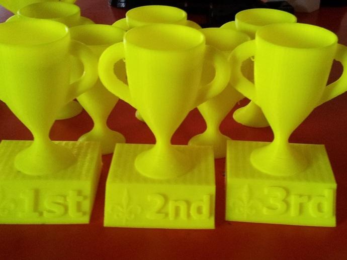 1,2,3名奖杯 3D打印模型渲染图