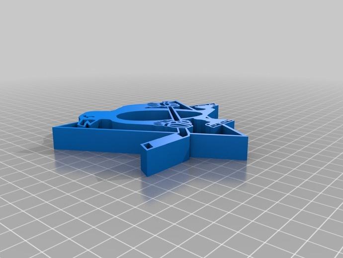 匹兹堡企鹅队标志 3D打印模型渲染图