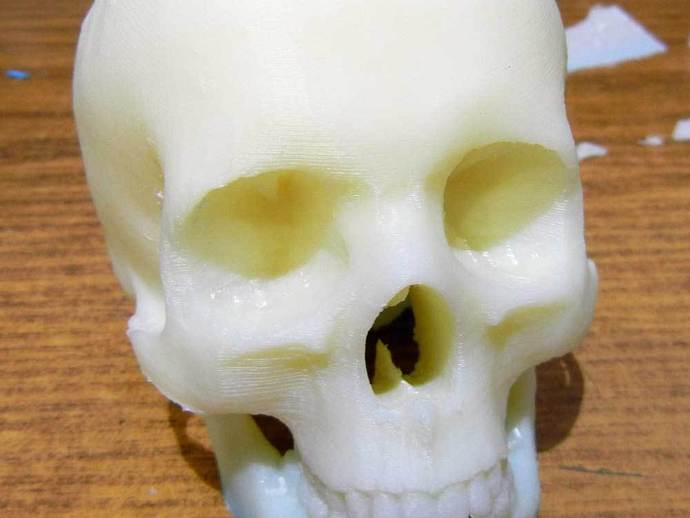 头骨模型 骷髅头 3D打印模型渲染图