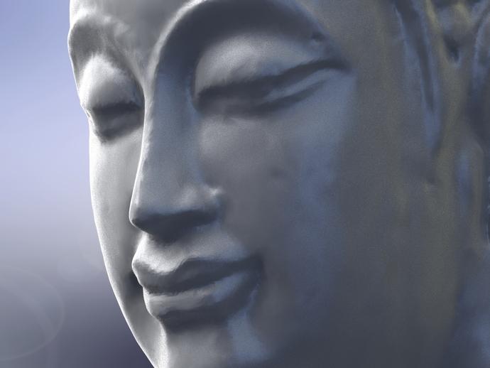 如来佛头像雕塑
