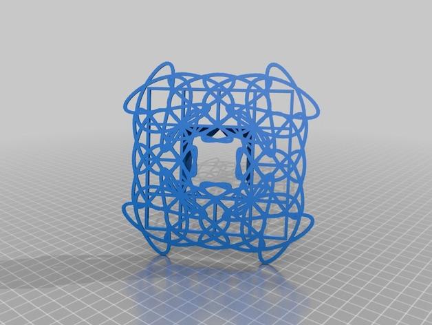 利萨茹相框 3D打印模型渲染图