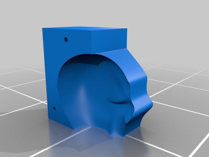 Lisa头骨模型模具 3D打印模型渲染图