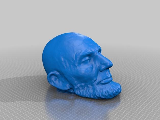 林肯面具 3D打印模型渲染图
