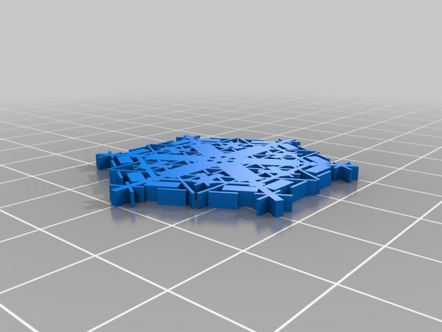 参数化雪花片模具
