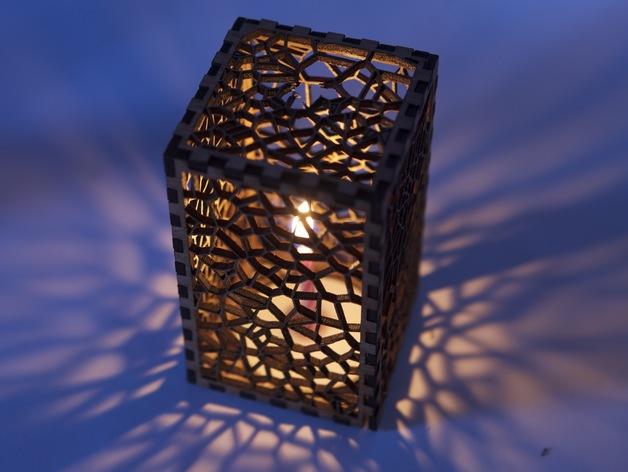 镂空雕花盒子 3D打印模型渲染图
