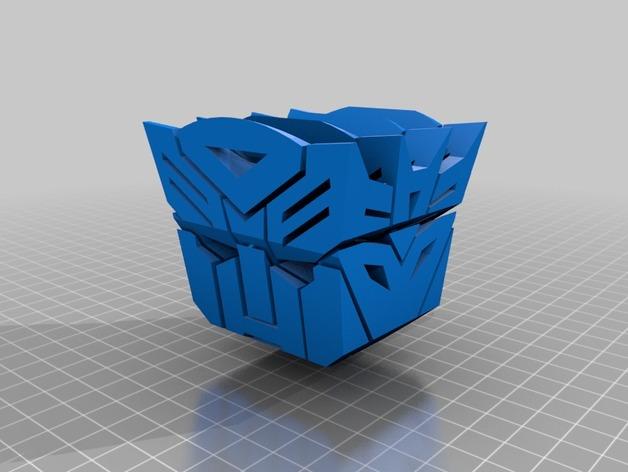 汽车人VS霸天虎 标志 3D打印模型渲染图