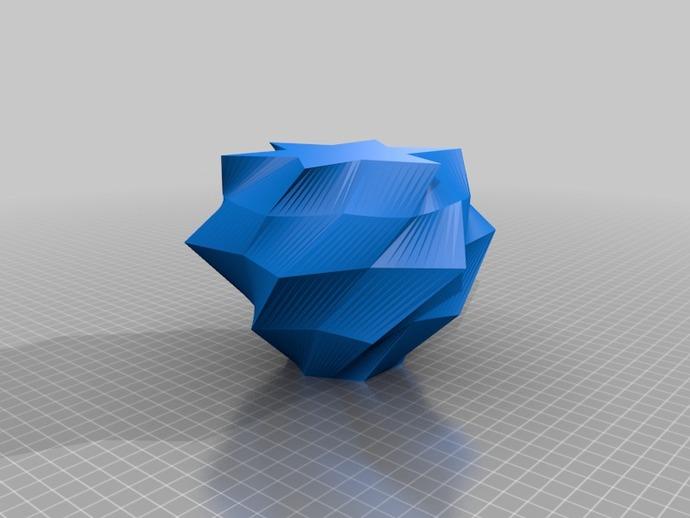 低面数不规则几何体 3D打印模型渲染图