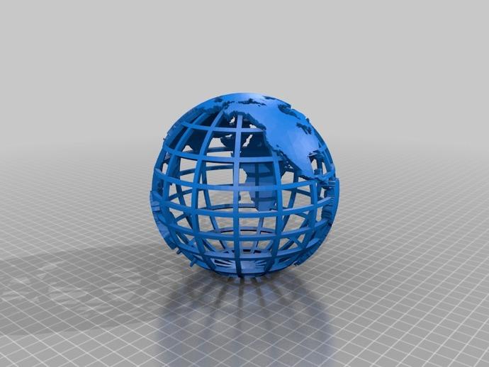 网格地球模型