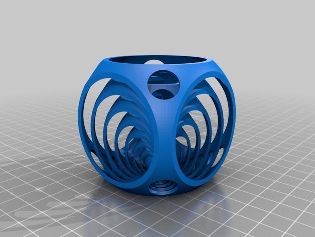 中国球 3D打印模型渲染图