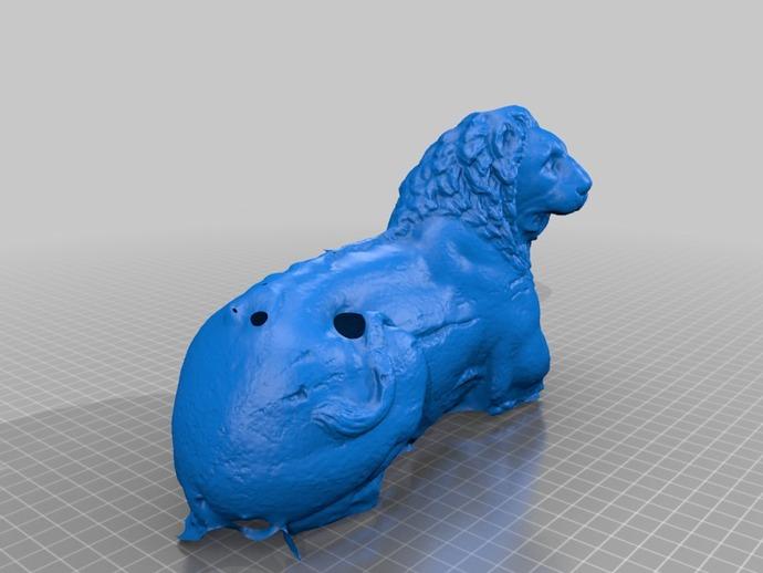狮子雕塑模型