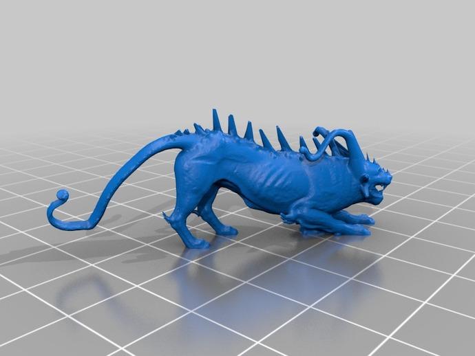 龙狮模型 3D打印模型渲染图
