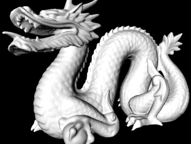 斯坦福龙模型 3D打印模型渲染图