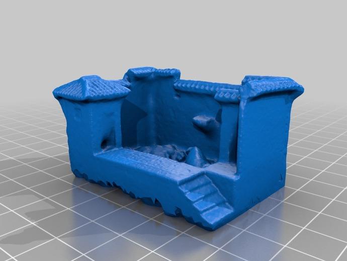 猪舍和茅房 建筑模型 3D打印模型渲染图