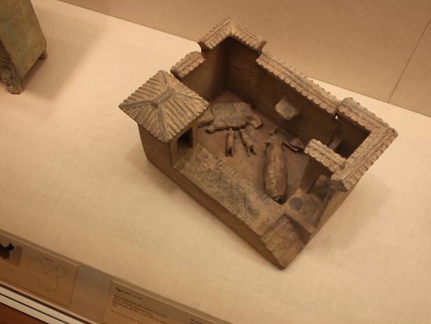 猪舍和茅房 建筑模型