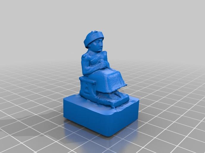 苏美尔人雕像模型