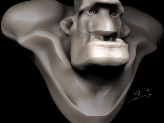 Mongo 3D打印模型渲染图