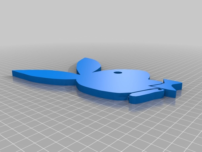 花花公子标志 3D打印模型渲染图