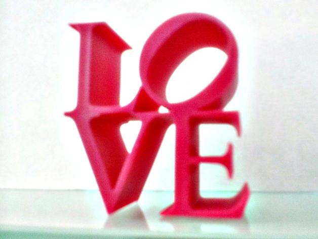LOVE字母模型 3D打印模型渲染图