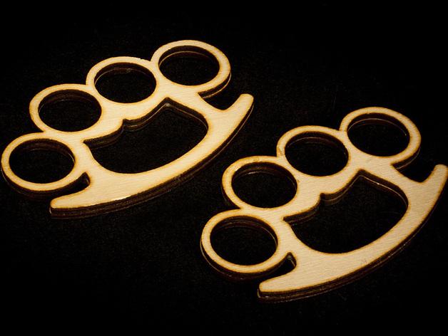 木质指节套环 3D打印模型渲染图