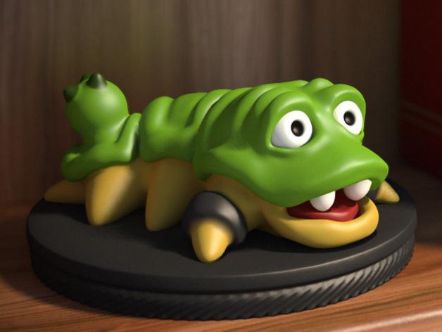 口袋妖怪 Munchy模型 3D打印模型渲染图
