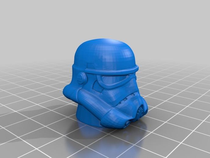 帝国风暴兵 头盔 3D打印模型渲染图