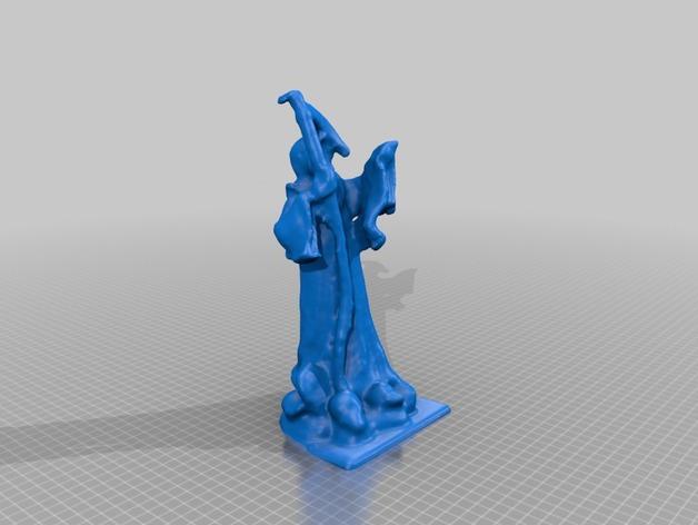 死神雕塑 3D打印模型渲染图