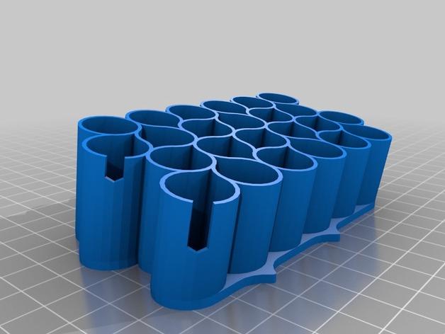 霹雳马马克笔笔架 3D打印模型渲染图