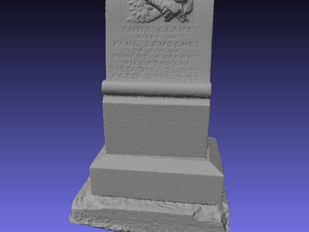 Anna Clara的墓碑模型