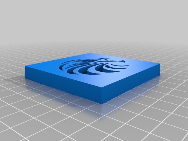 锡达河苍鹰标志 3D打印模型渲染图