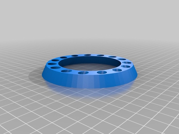 参数化圆环笔筒 笔架 3D打印模型渲染图