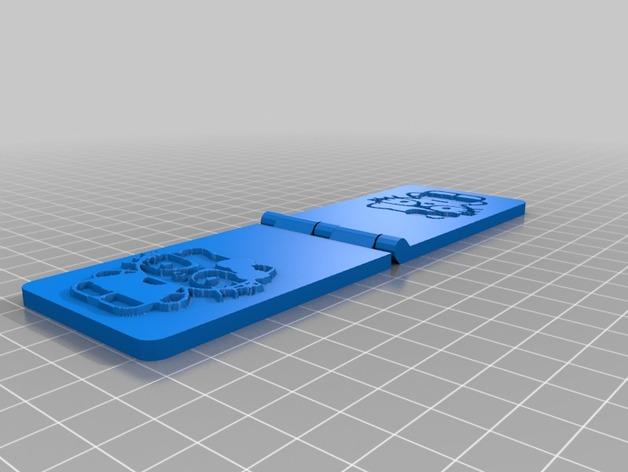 花纹钢印 3D打印模型渲染图