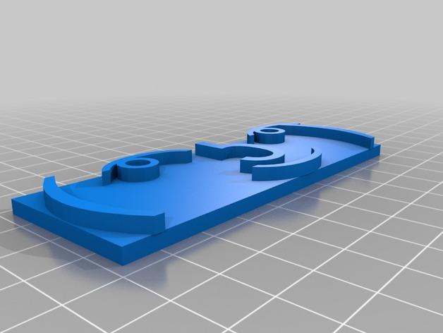 钢印板 3D打印模型渲染图