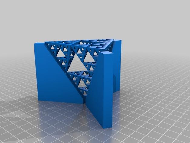 谢尔宾斯基三角 3D打印模型渲染图