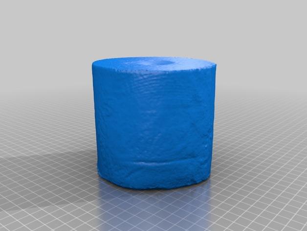 卷纸模型 3D打印模型渲染图