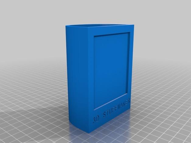 相框式笔筒 3D打印模型渲染图