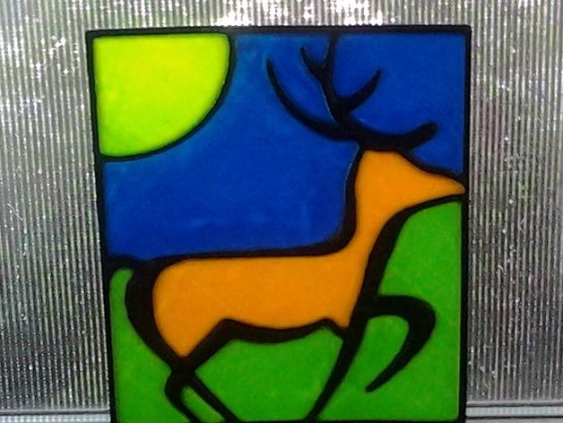 小鹿画板 拼接板 3D打印模型渲染图