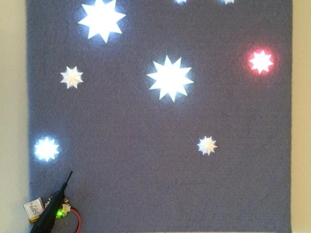 闪亮的星星 3D打印模型渲染图