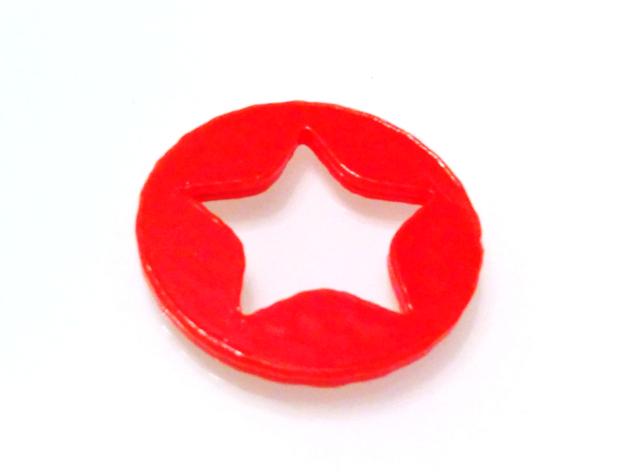 星星徽章 硬币 3D打印模型渲染图