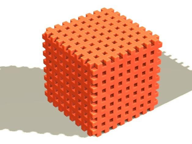 体素立方体 3D打印模型渲染图