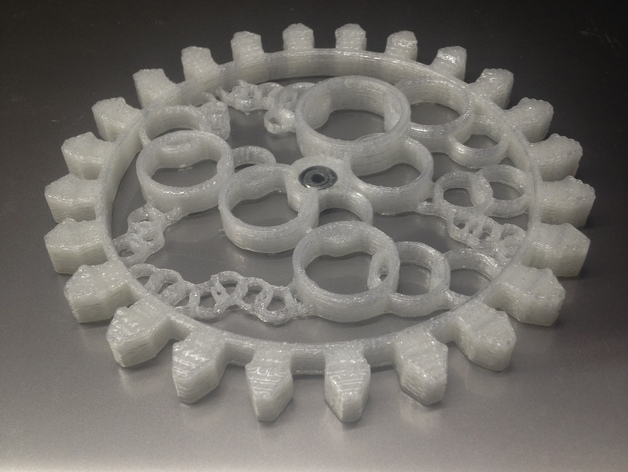 透明齿轮 3D打印模型渲染图
