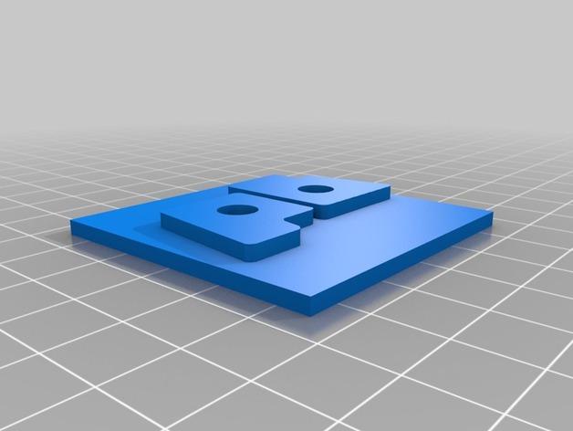 pb logo奖章 3D打印模型渲染图