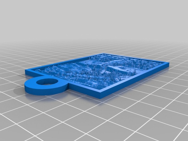 Moby Dick大白鲸透光浮雕 3D打印模型渲染图