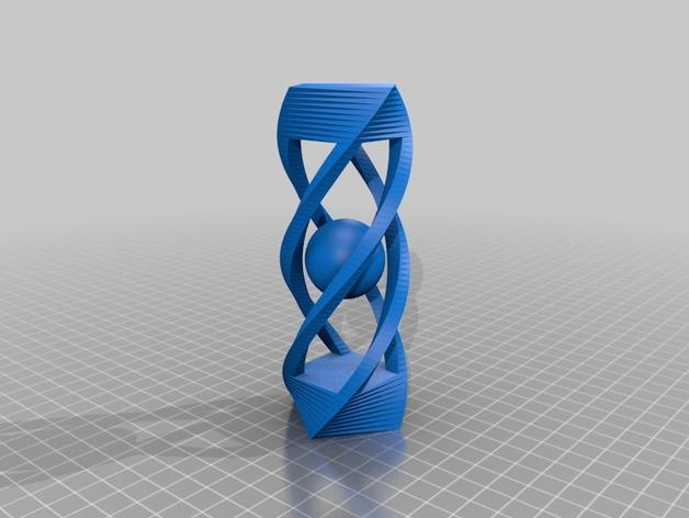 螺旋体中的小球 3D打印模型渲染图